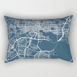 Baltimore Blueprint Street Map, Baltimore Colour Map Prints Rectangular Pillow