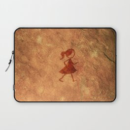 Flipt Pictures Girl Cave Painting Laptop Sleeve