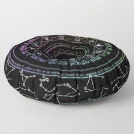 Astrological Magic Circle Floor Pillow