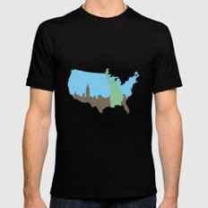 New York City - United States MEDIUM Mens Fitted Tee Black
