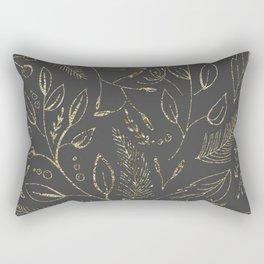 Holiday grey and gold Rectangular Pillow