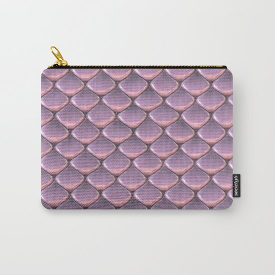 Pink Snake Skin mermaid scales Carry-All Pouch