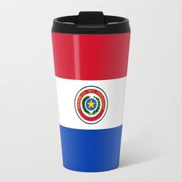 flag of paraguay-paraguyan,asuncion,spanish, south america, latin america,pan flute,coffee,forest Travel Mug