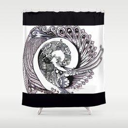 Peacock Spiral Shower Curtain