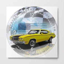 "1970 Buick GSX Decorative 10"" Wall Clock (001ac) Metal Print"