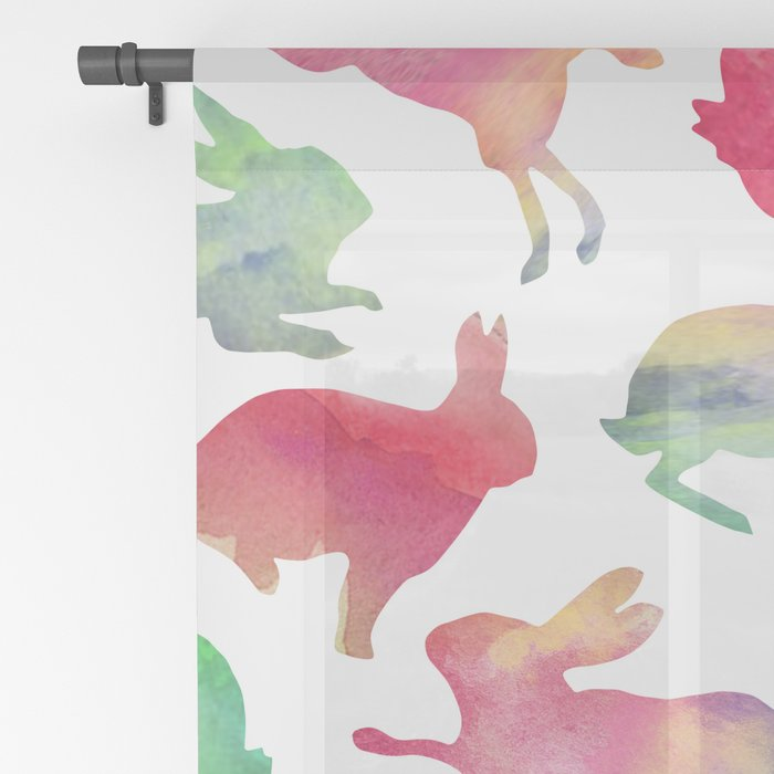 Watercolour Bunnies Sheer Curtain
