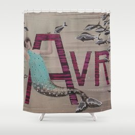 April Fools Mermaid Shower Curtain