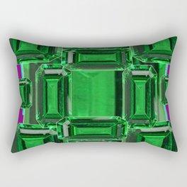 Emerald Gems May Babies Birthstones on Purple Rectangular Pillow