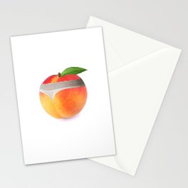 Peach booty Stationery Cards