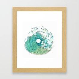 Seafoam Barrel Framed Art Print