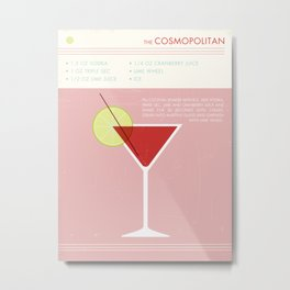 Cosmopolitan Cocktail Art Print Metal Print