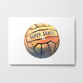 orange ball Metal Print