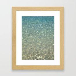 simply clean sea water Framed Art Print
