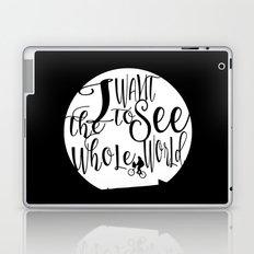 Travel quote calligraphy wall art print Laptop & iPad Skin
