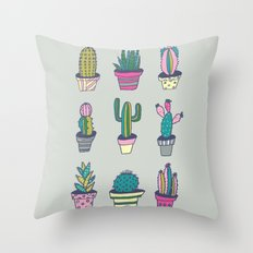 SUMMER CACTUS Throw Pillow