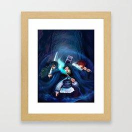 Ennara and the Fallen Druid Framed Art Print