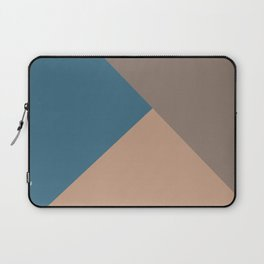 Brown Blue Minimal Solid Color Abstract Shapes 2021 Color of the Year Canyon Dusk & Accent Shades Laptop Sleeve