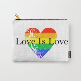 Love Is Love Rainbow Pride Heart 4 Carry-All Pouch