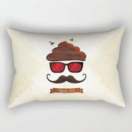 Hipster Hat Rectangular Pillow