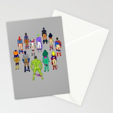 Superhero Power Couple Butts - Grey Stationery Cards