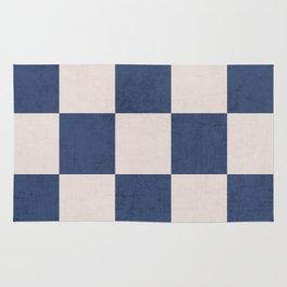 blue checks Rug