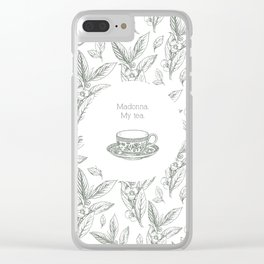 The Spilling of the Tea -V.1- Clear iPhone Case