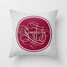 SIMPLICITY Throw Pillow