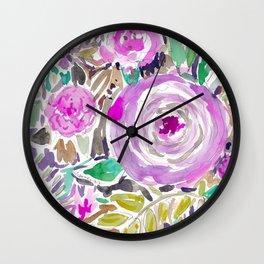 Jakarta Bouquet Floral Wall Clock