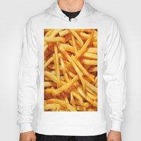 french fries Hoodies featuring French Fries by I Love Decor