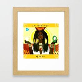 Ma'at Black Gold Framed Art Print