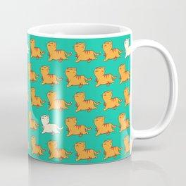 proud red cat pattern green Coffee Mug