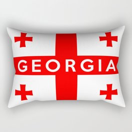 Georgia country flag name text Rectangular Pillow