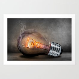 THINK, IMAGINE, CREATE Art Print