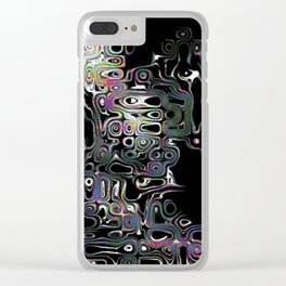 Irregular Abstractions Clear iPhone Case