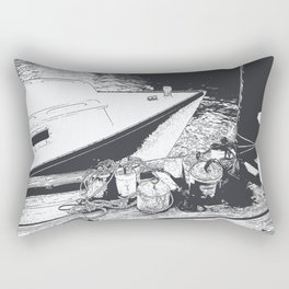 Boat and Makeshift Anchors Rectangular Pillow