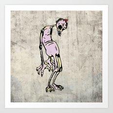 horror pink Art Print