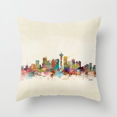 seattle washington  Throw Pillow