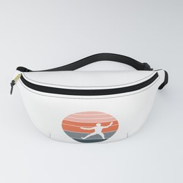 A Nice German Fencing Tee For Fencers Silhouette Of A Retro Fencer T-shirt Design Attack Defense Fanny Pack
