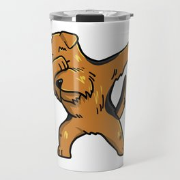 Funny Dabbing Airedale Terrier Dog Dab Dance Travel Mug