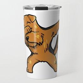 Funny Dabbing Airedale Terrier Dog Dab Dance Travel Mug
