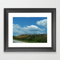 The Clouds Are Not Fenced In Framed Art Print