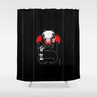 dracula Shower Curtains featuring Dracula by JoJo Seames