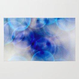 blue dot abstract Rug