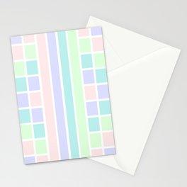 Summer Rainbow Mosaic - Abstract Minimalist Geometry Stationery Cards