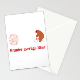 Branier than the Average Bear T-shirt Design made for you. Do you believe you're above average? Stationery Cards