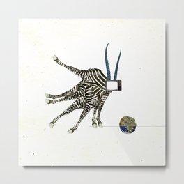 FabCreature · TV Streifen Sondersendungsalat Metal Print