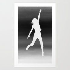 Body Movin - Touch the Sky B&W Inverse Art Print