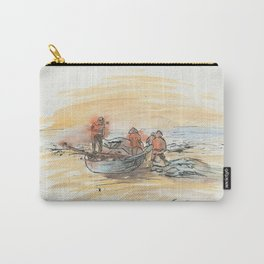 KargacinArt - Fishermen - Watercolor Painting Carry-All Pouch