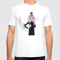 Ice Cream Queen White MEDIUM Mens Fitted Tee