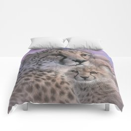 Cheetah Mother and Cubs - Mothers Love Comforters